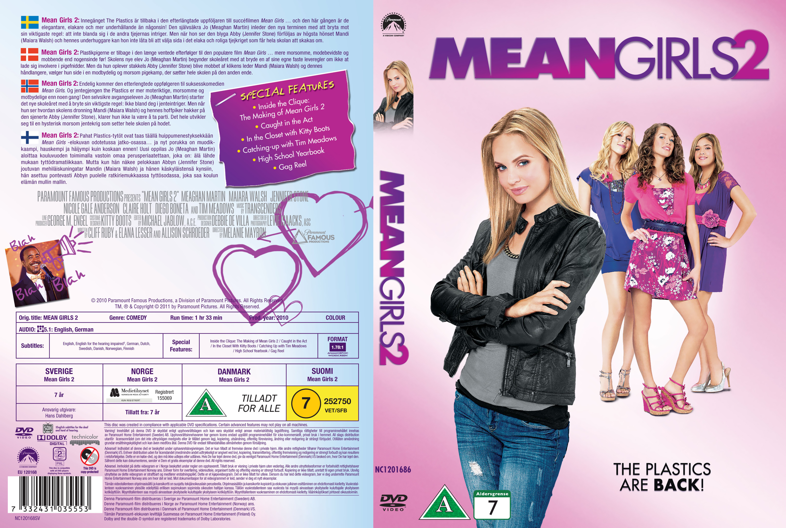 COVERS BOX SK ::: Mean Girls 2 - Nordic (2011) - high