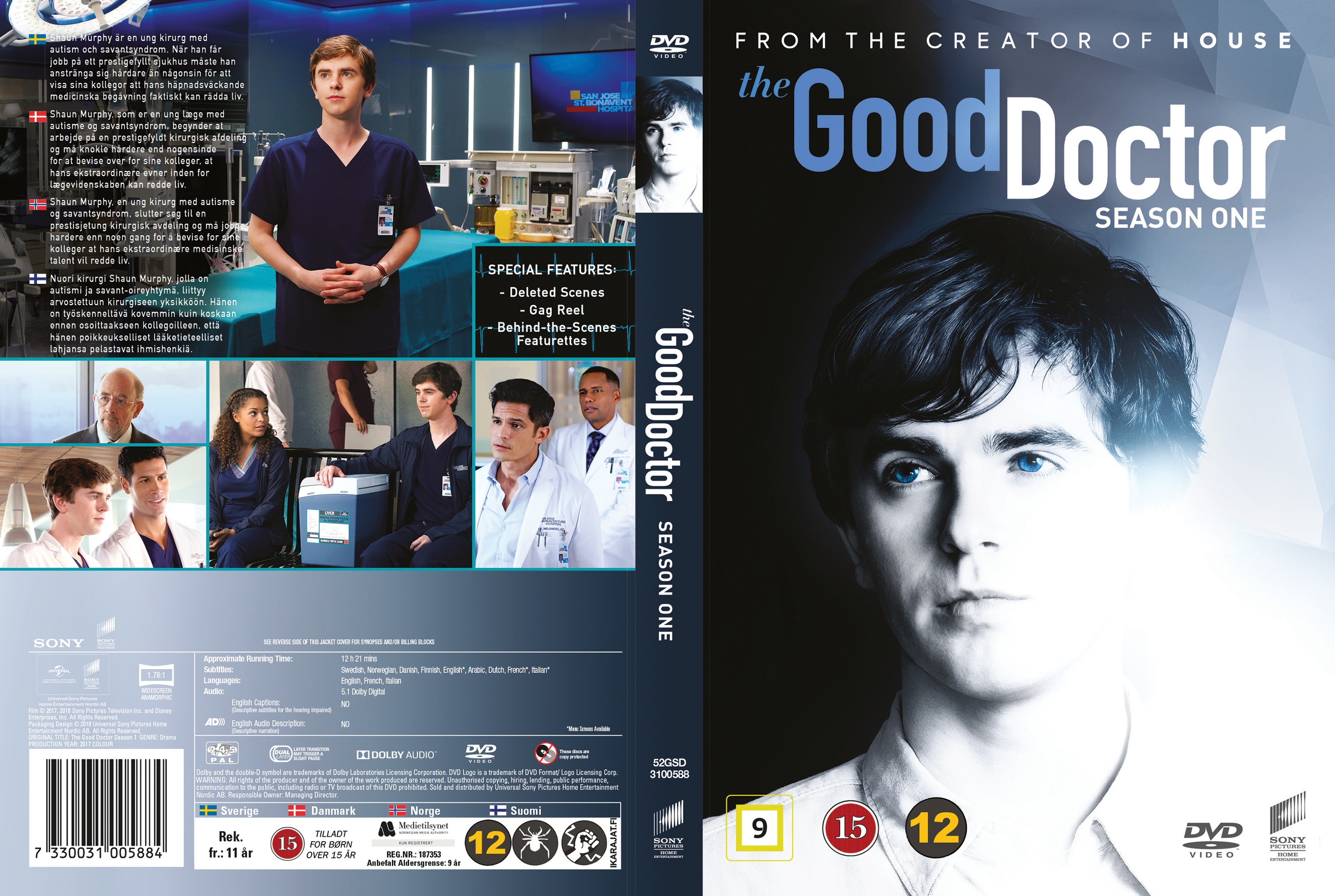 Covers Box Sk The Good Doctor Season 1 Nordic 2017 High Quality Dvd Blueray Movie