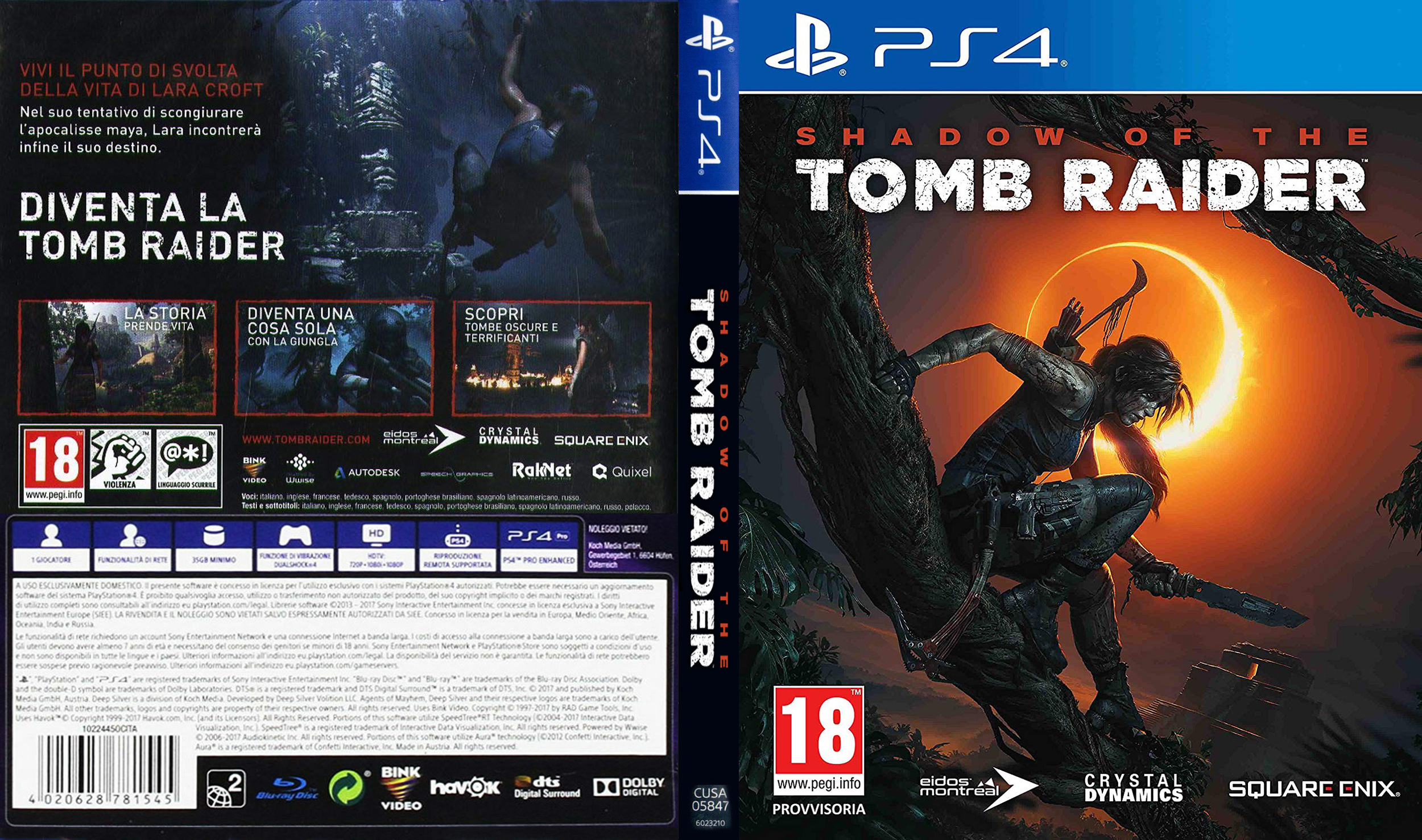 COVERS BOX SK ::: Shadow Of The Tomb Raider (2018) PS4