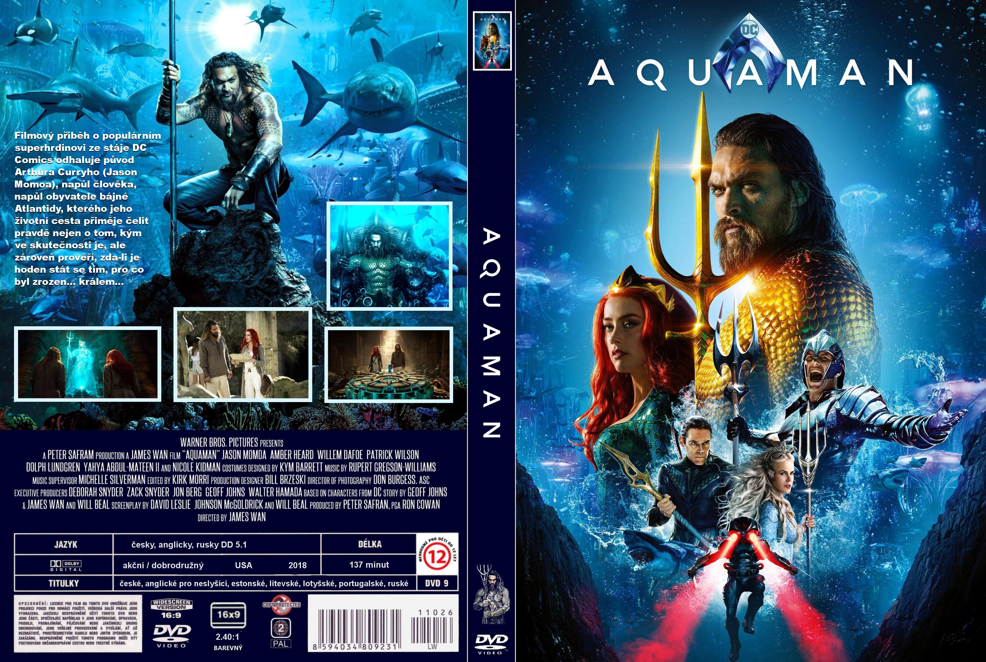 Covers Box Sk Aquaman 2018 High Quality Dvd Blueray Movie