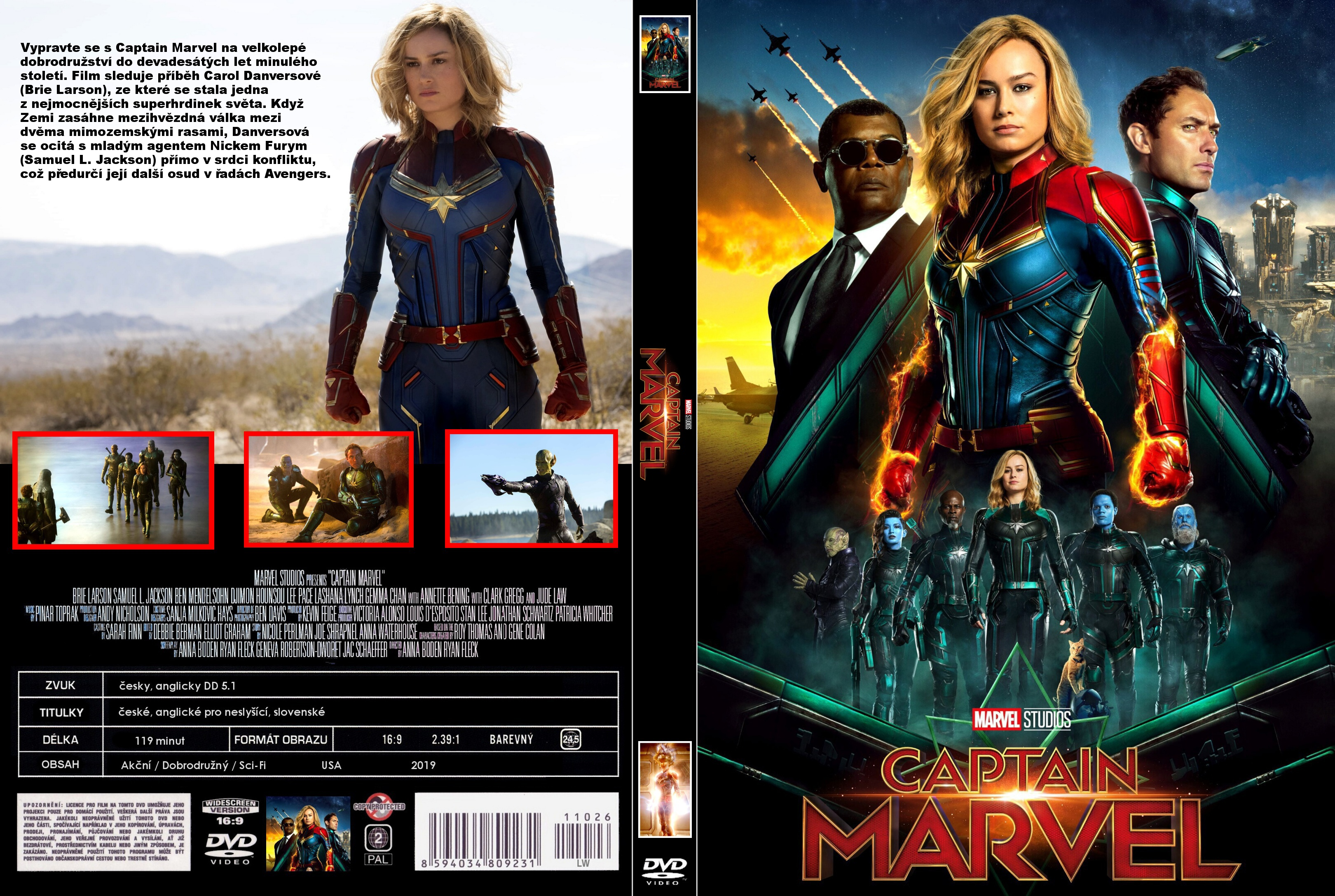 Covers Box Sk Captain Marvel 2019 High Quality Dvd Blueray Movie