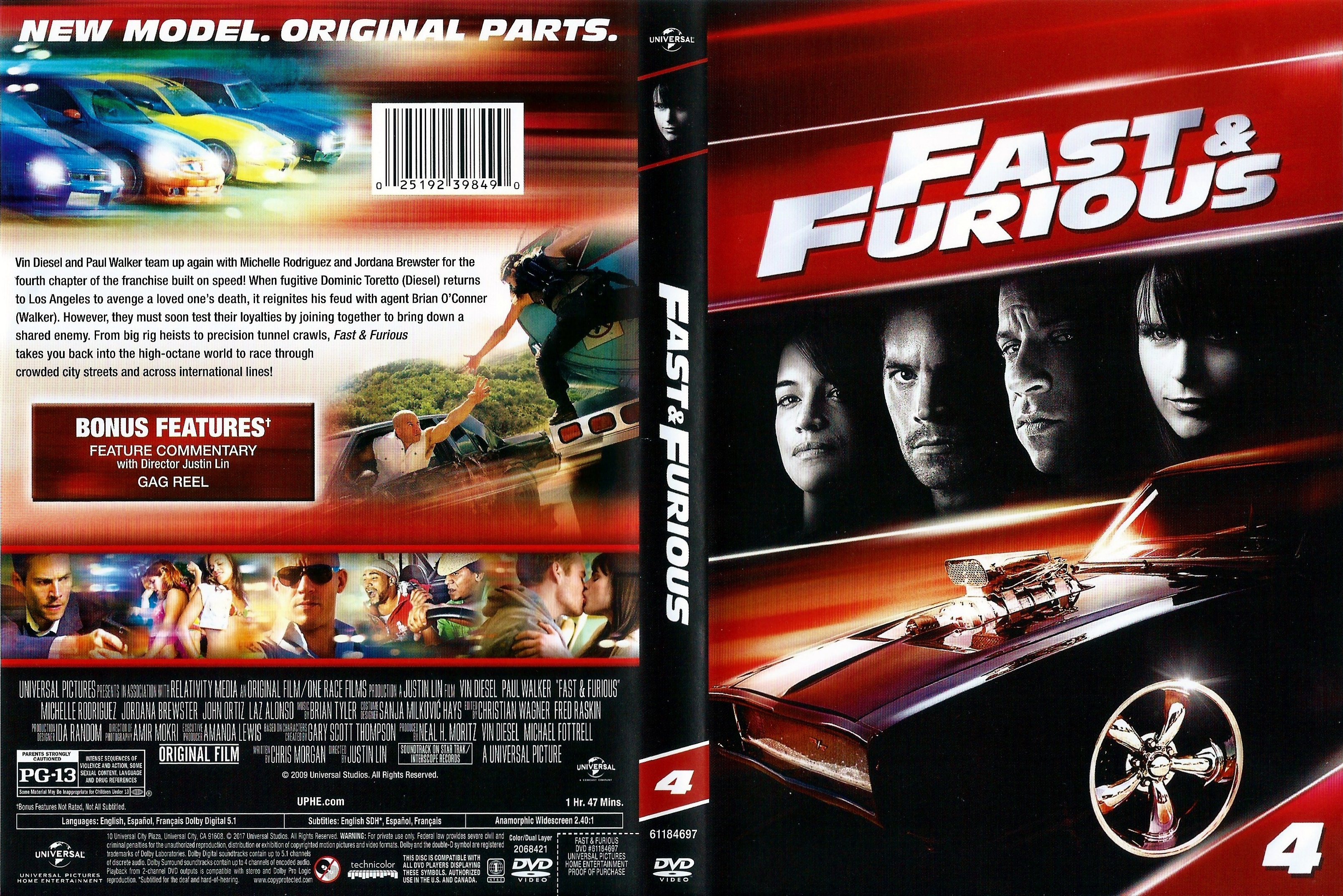 Covers Box Sk Fast Furious 2009 High Quality Dvd Blueray Movie