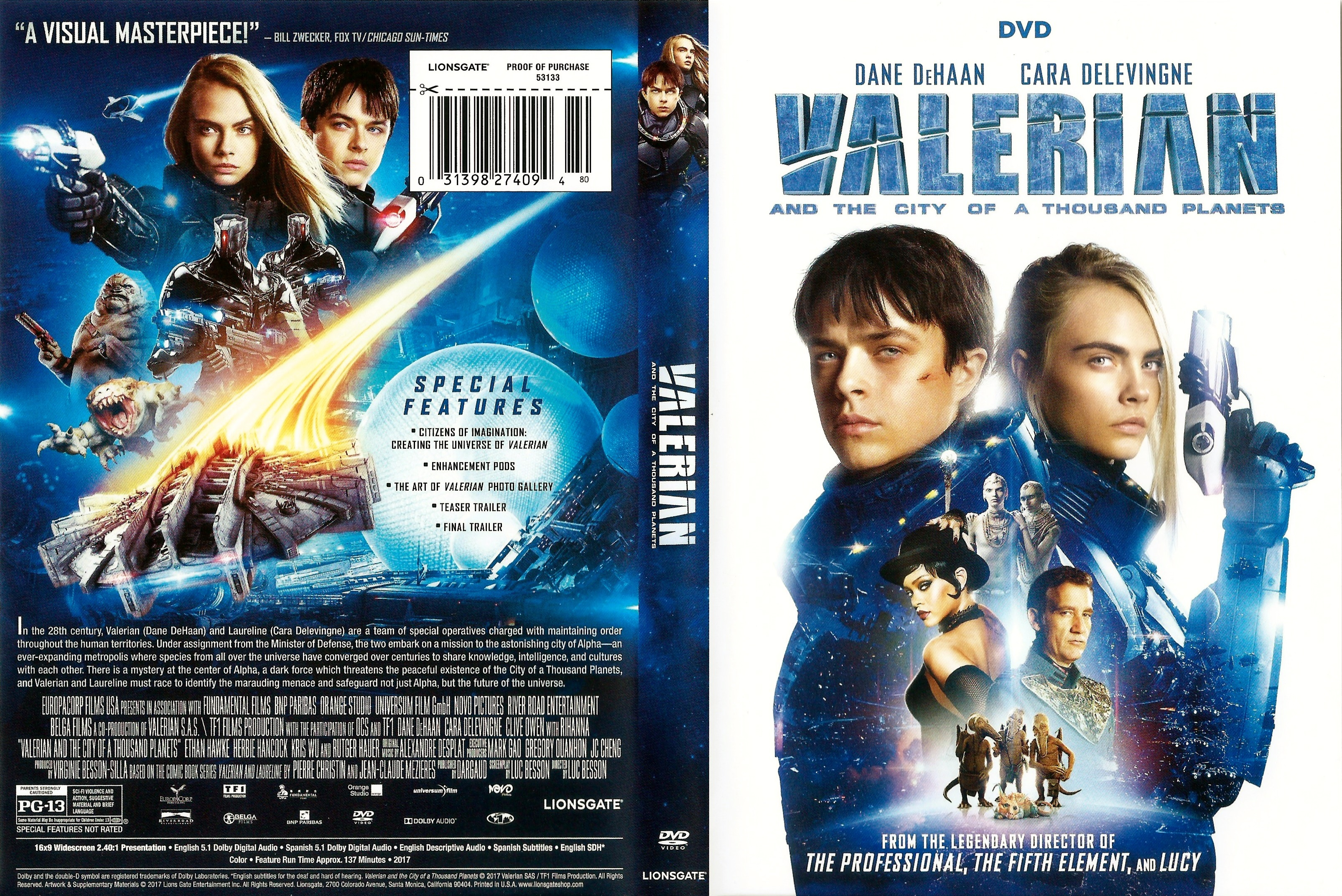 Covers Box Sk Valerian And The City Of A Thousand Planets 2017 High Quality Dvd Blueray Movie