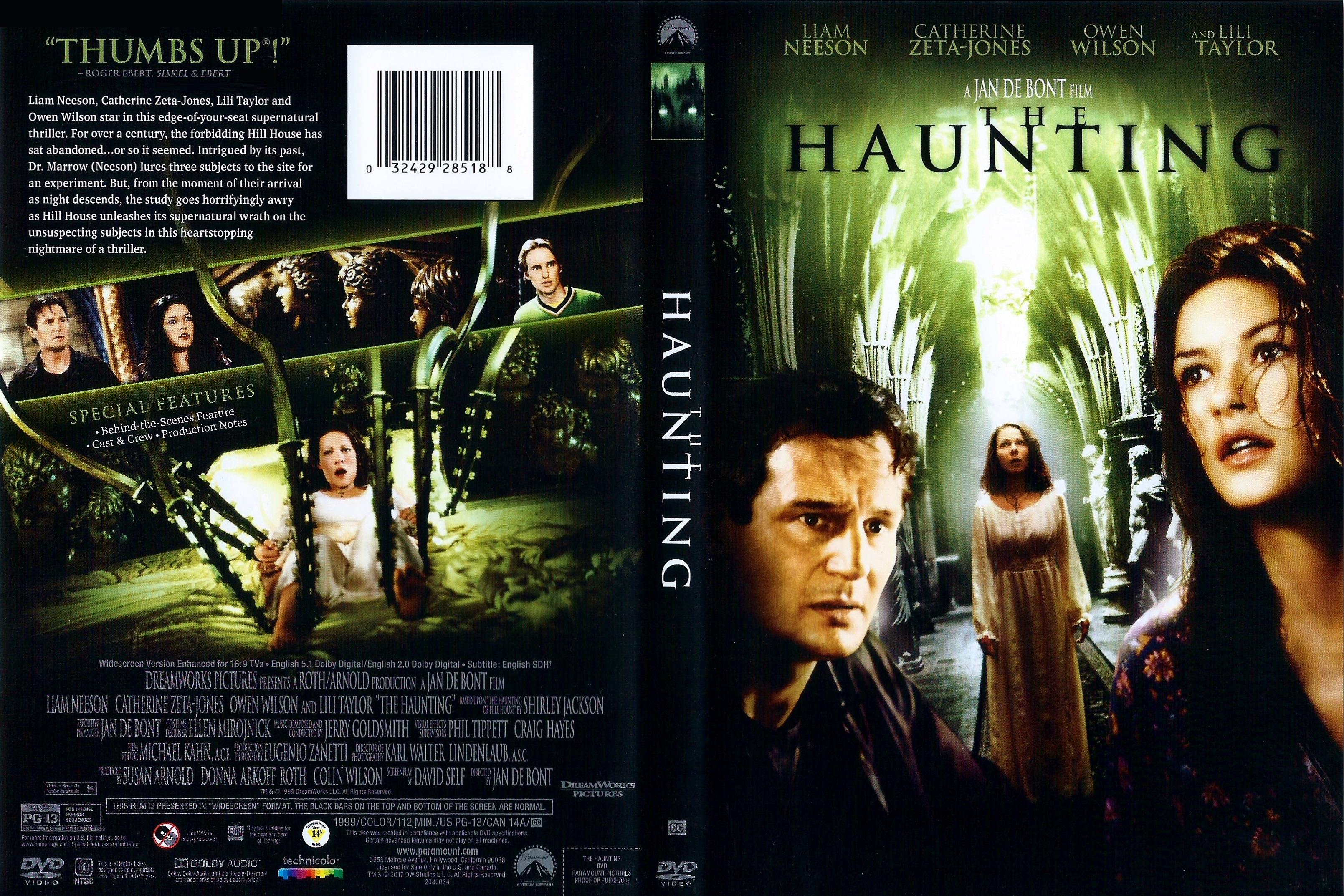 Covers Box Sk The Haunting 1999 High Quality Dvd Blueray Movie