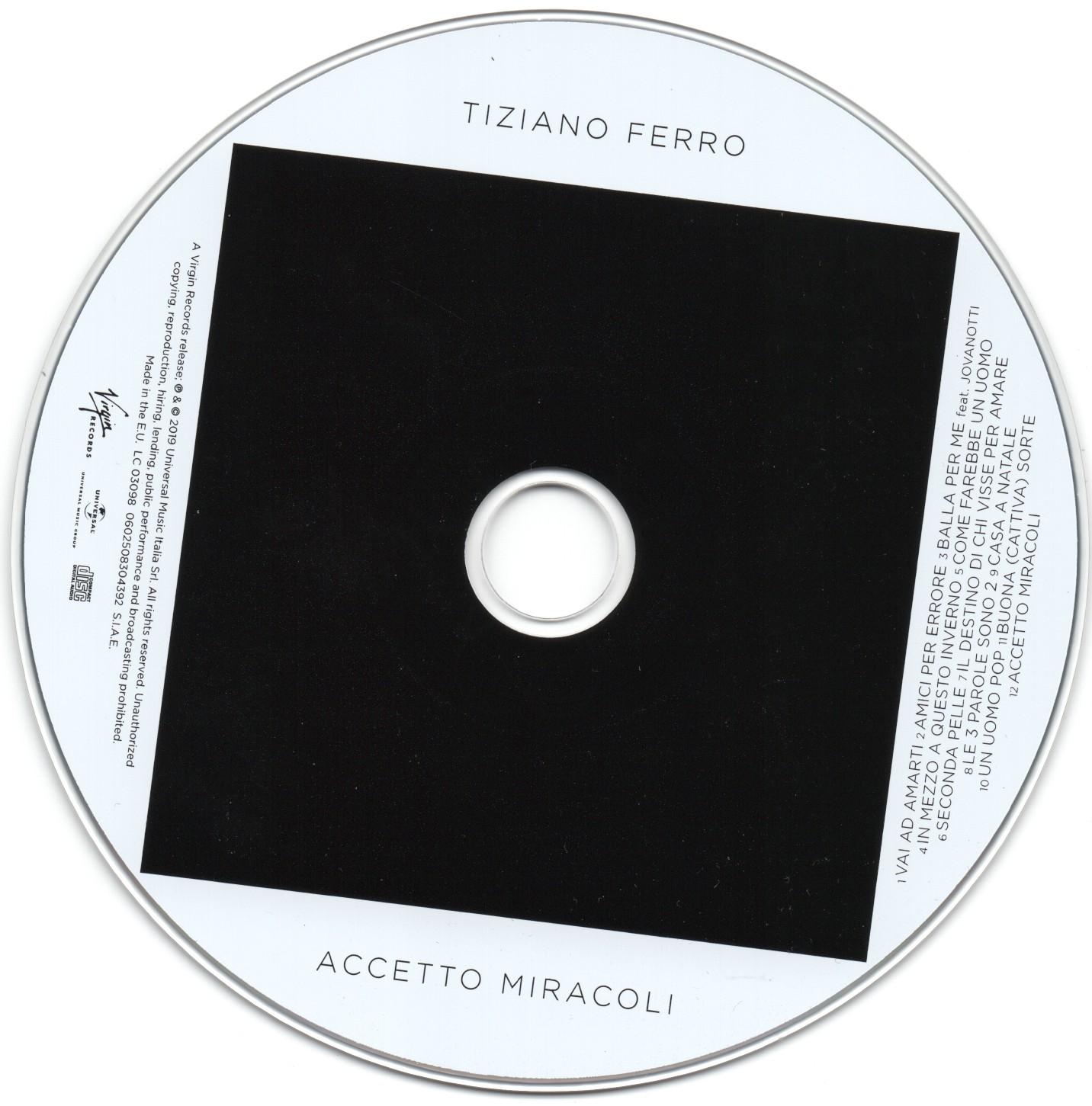 SCARICA COPERTINA CD TIZIANO FERRO