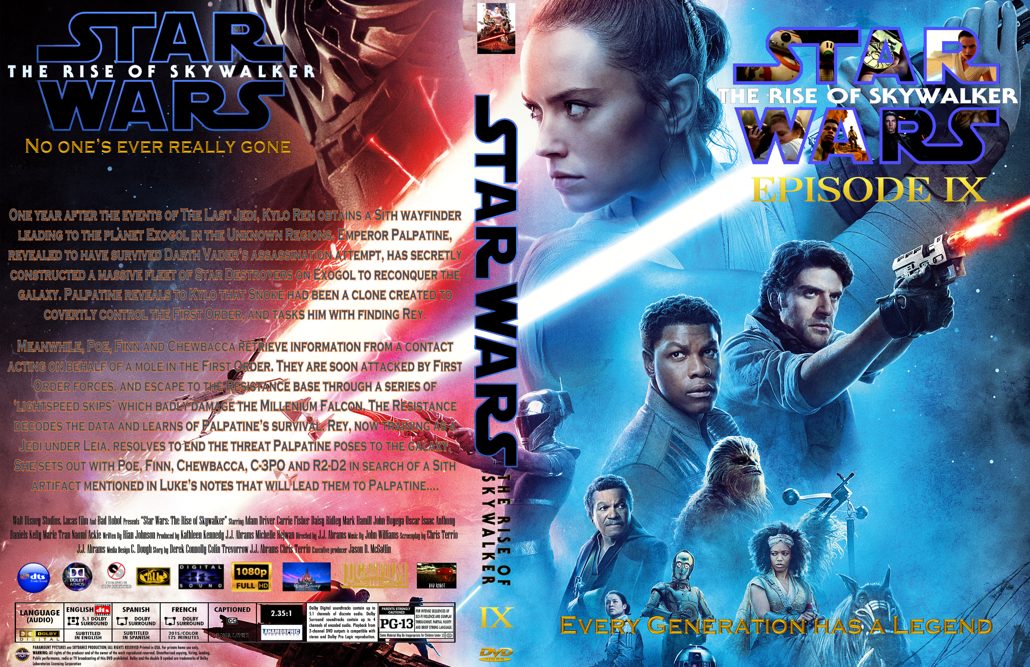 Covers Box Sk Star Wars The Rise Of Skywalker 2020 High Quality Dvd Blueray Movie
