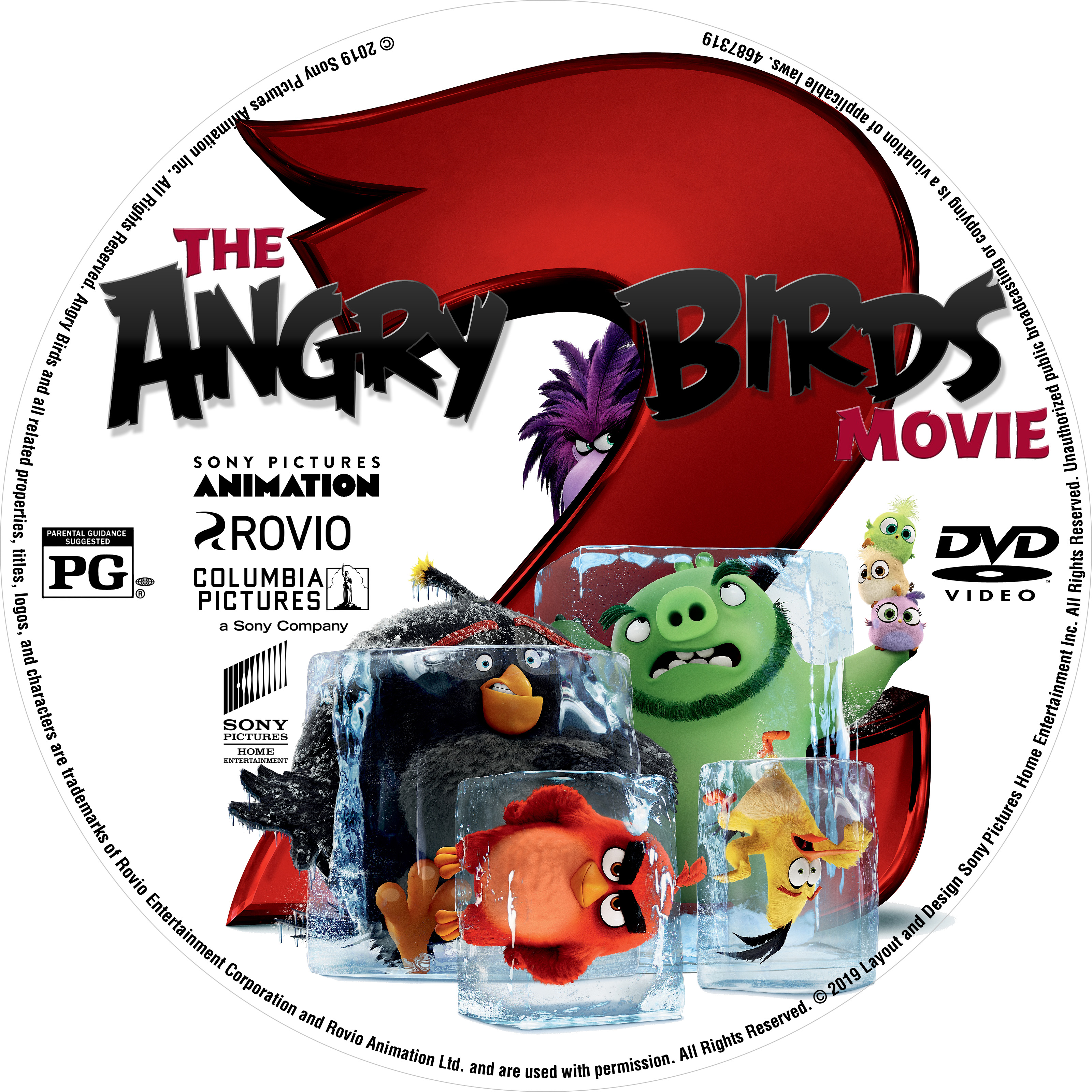 Covers Box Sk Angry Birds Movie 2 2019 R1 Us Dvd Label Custom