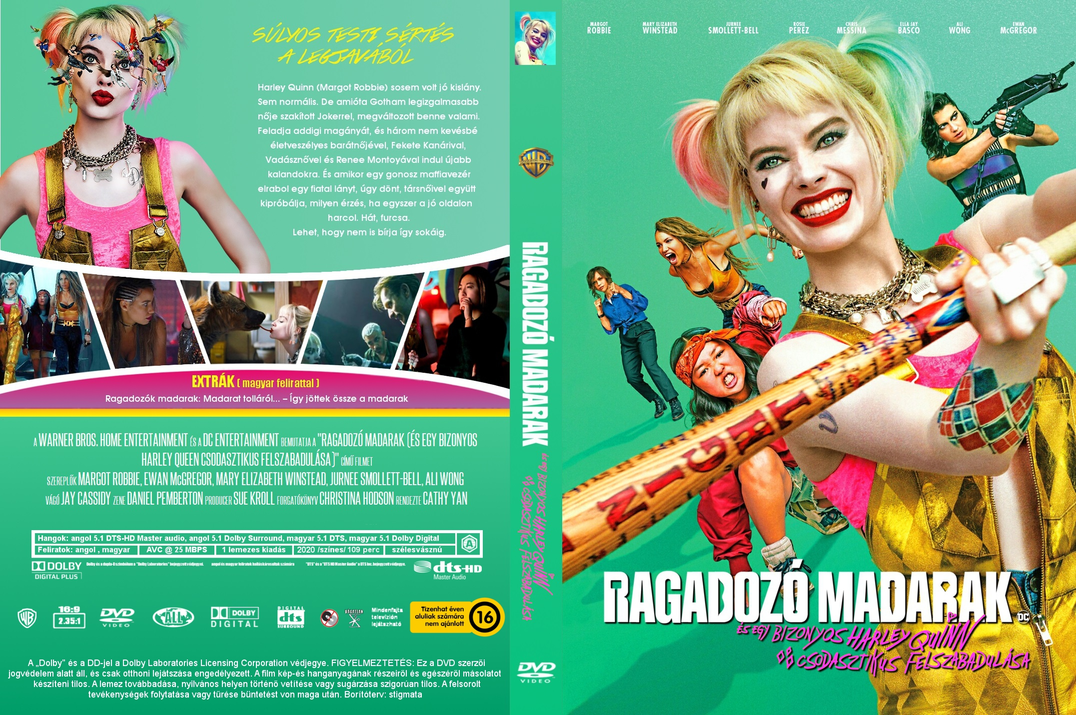 Covers Box Sk Birds Of Prey And The Fantabulous Emancipation Of One Harley Quinn High Quality Dvd Blueray Movie