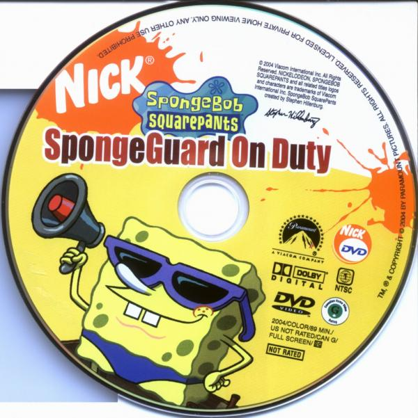 coversboxsk spongeguard on duty high quality dvd
