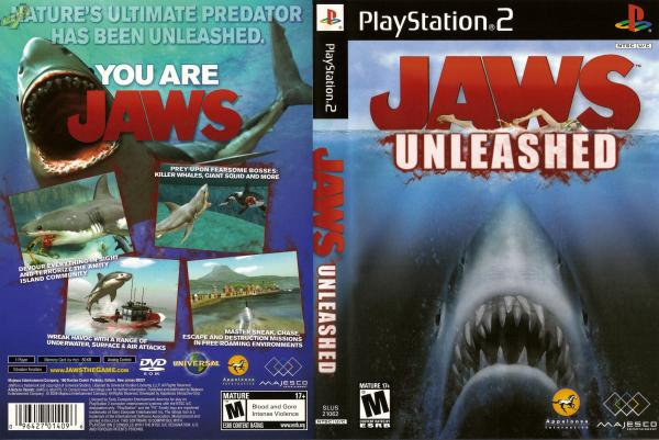 Jaws Unleashed PS2 Cover
