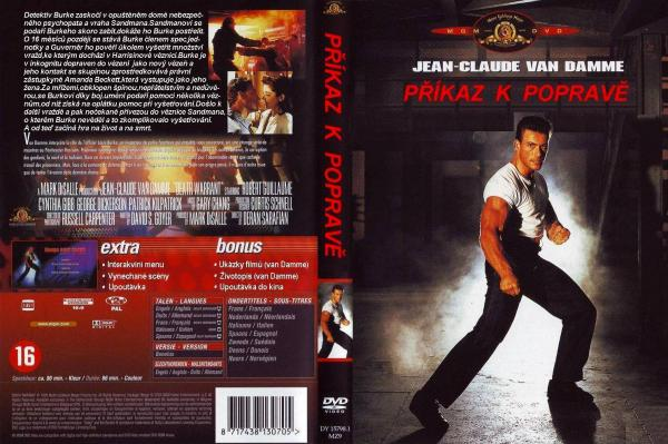Covers Box Sk Death Warrant 1990 High Quality Dvd Blueray